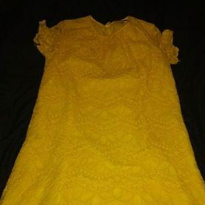 Yellow spring dress size xl